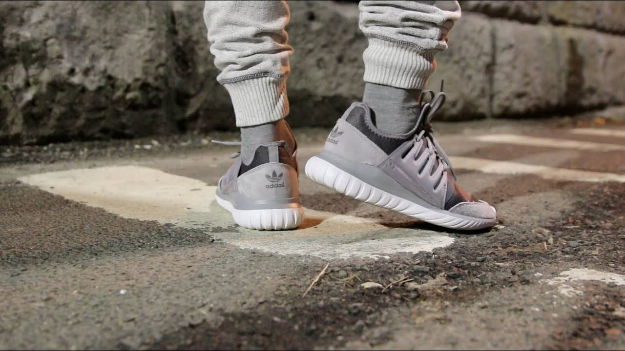 ADIDAS TUBULAR RADIAL GRAY FLEECE UNBOXING + ON FEET REVIEW IN THE STREETS  OF NYC - YouTube