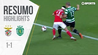 Highlights | Resumo: Benfica 1-1 Sporting (Liga 18/19 #3)