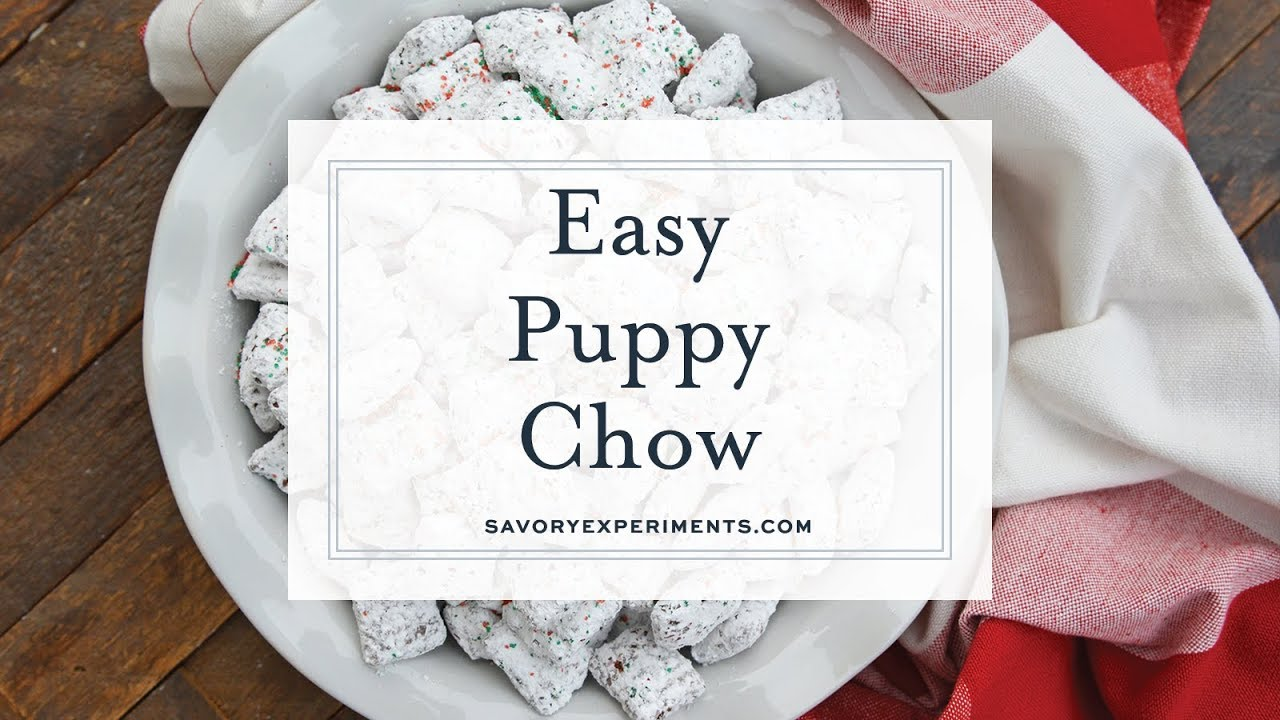 Christmas Puppy Chow.Christmas Puppy Chow Easy Reindeer Chow Or Muddy Buddy Recipe