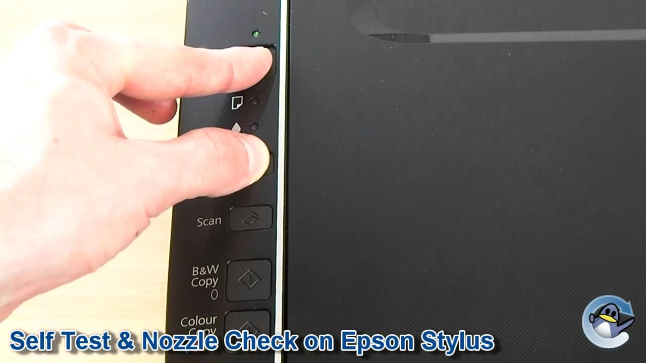 How To Self Test Nozzle Check On Epson Stylus Printer Youtube