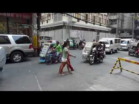 Traffic in downtown Manila, Philippines