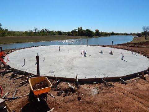 Bray Geodesic Dome. Marlow, OK. Foundation work