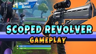 New Scoped Revolver Gameplay Fornite Battle Royale (Fortnite New Weapon)
