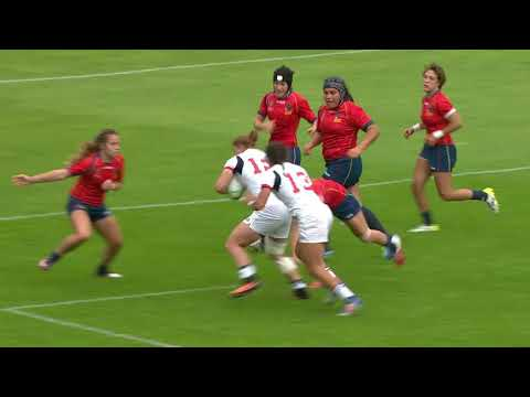 HIGHLIGHTS: USA beat Spain 43 - 0 at the Women's Rugby World