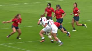 HIGHLIGHTS: USA beat Spain 43 - 0 at the Women's Rugby World Cup