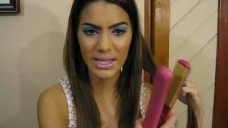 Como Enrolar Cabelo com Pranchinha por Camila Coelho