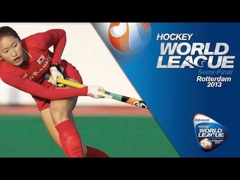 Korea vs Netherlands Women's Hockey World League Rotterdam Pool A [14/06/13]