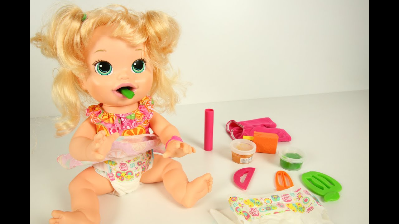 Baby Alive Toys : Baby alive toys food and toilet cloth doll video