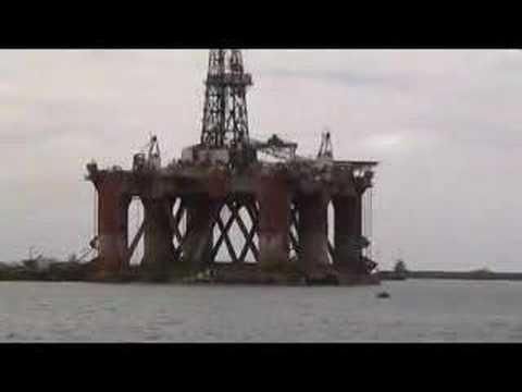 Oil Rig in Dock