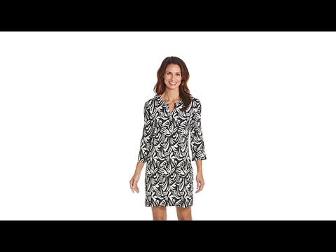 c27c70c5931 Coolibar UPF 50+ Oceanside Tunic Dress - YouTube
