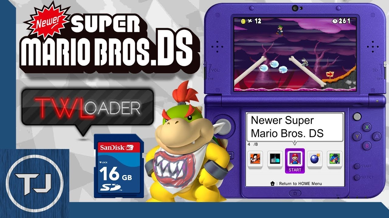 Play Newer Super Mario Bros DS  On 3DS Using TWLoader! 2018!