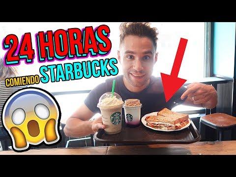 24 horas COMIENDO en STARBUCKS - I Only Ate STARBUCKS FOOD for 24 hours Challenge