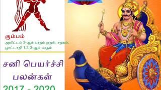 Sani peyarchi 2017 to 2020 Kumba Rasi | சனி பெயர்ச்சி 2017 - 2020 கும்பம் ராசி