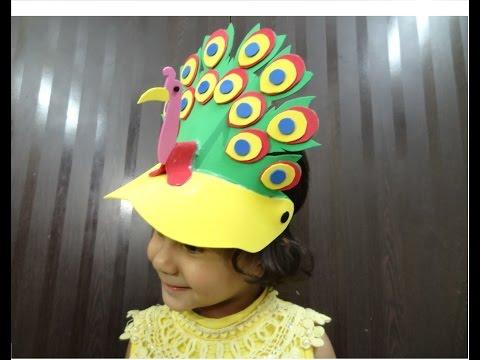 Paper Crafts: Foam Crafts Ideas for Kids | Foam Peacock Cap