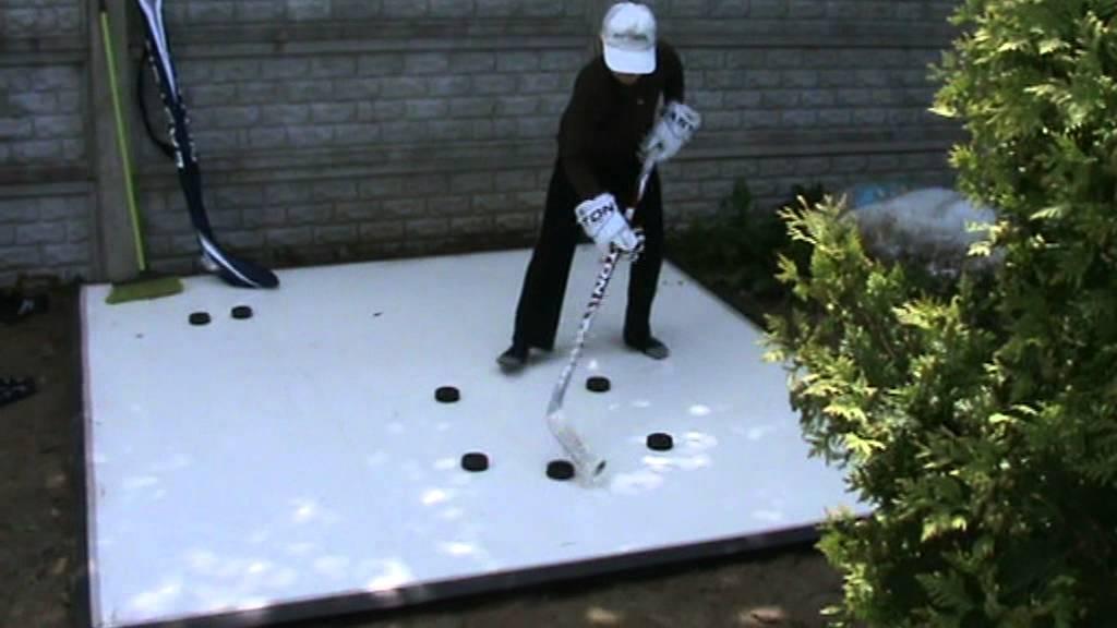 Искусственный лед для хоккея своими руками