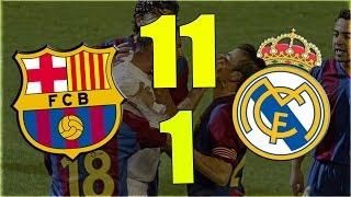 حقيقة فوز ريال مدريد على برشلونة 11-1 وخسارته 15-1 في كلاسيكو الأرض !