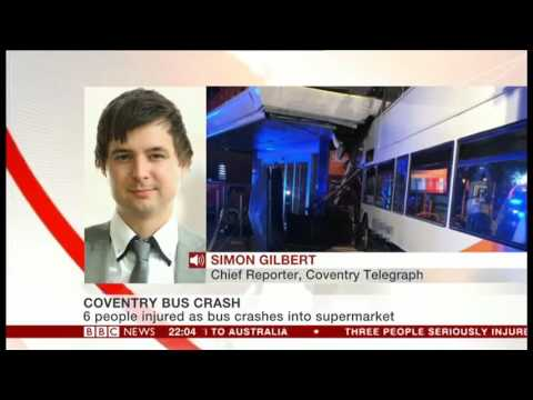 Coventry bus crash on BBC News Channel
