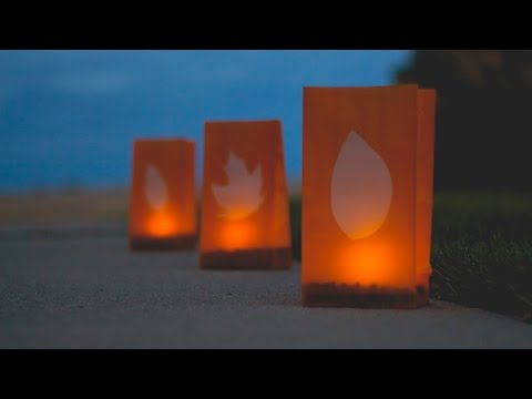 Outdoor Fall Luminaries