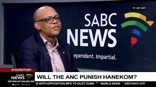 ANC's Pule Mabe reacts to the Hanekom, Gardee matter