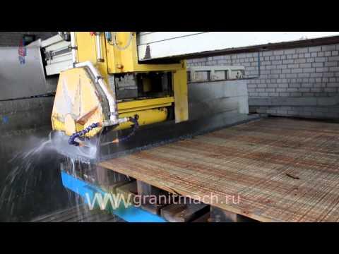 видео: Камнерезный автоматический окантовочный станок plc 400 ООО ГРАНИТМАШ