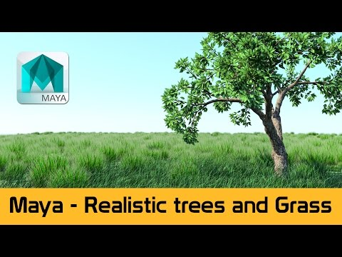 Maya 2016 - Create realistic grass and trees using Paint FX