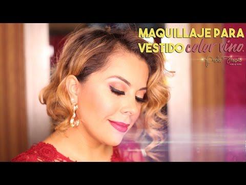 Repeat Maquillaje Para Vestido Color Vino By Paola Frausto