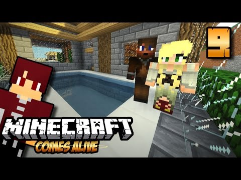 PAUL UDAH GEDE PUNYA KOLAM MODERN !! - Minecraft Comes Alive #9