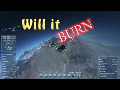 Space Engineers - Will It Burn? Episode 5 - Red Ship / Blue Ship