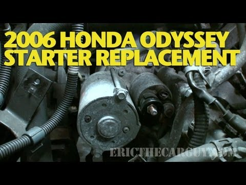 How To Replace a Starter 2006 Honda Odyssey -EricTheCarGuy