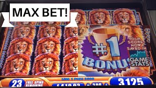 King of Africa - Max Bet - MASSIVE WIN AND #1 BONUS ALL LIVE