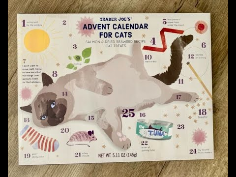 Trader Joe's Advent Calendar For Cats 2019 With Special Guest Archie