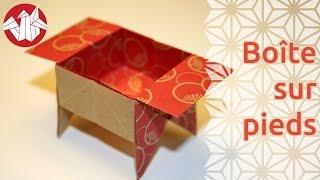 Origami - Boîte traditionnelle sur pieds [Senbazuru]