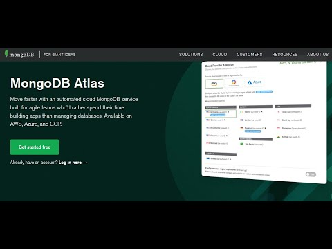 Creating a cluster in MongoDB Atlas & Connecting With MongoDB Compass