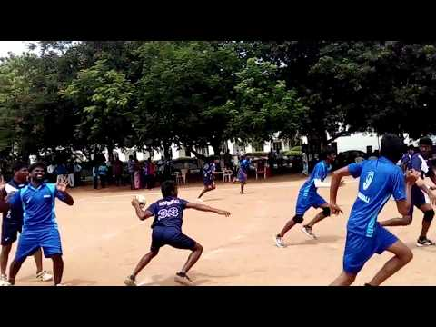 Anna university Zonal 8 handball match 2016 Avsec vs Sona clg #handball #avsec #sona #sports