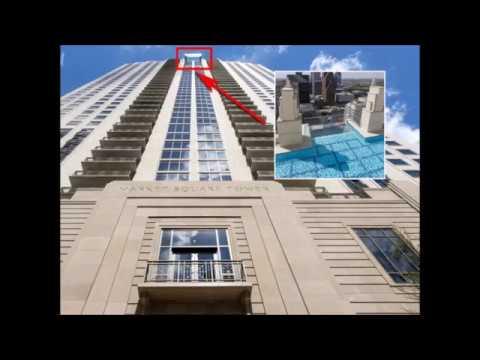 Sky pool piscina de vidrio al filo del edificio youtube for Alberca cristal londres