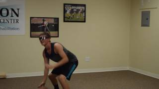 Basketball Drill with Strobe Glasses