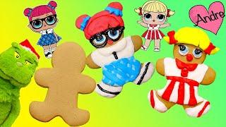 el grinch ayuda a decorar galletas de lol surprise muecas y juguetes con andre para nias y nios