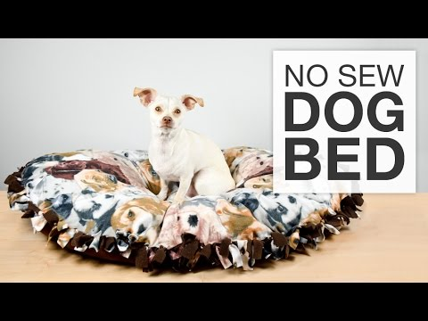 DIY No Sew Fleece Dog Bed Tutorial - YouTube