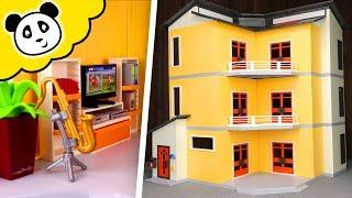 Playmobil Wohnhaus - Neues Kinderzimmer Schlafzimmer Wohnzimmer - Spielzeug auspacken & spielen