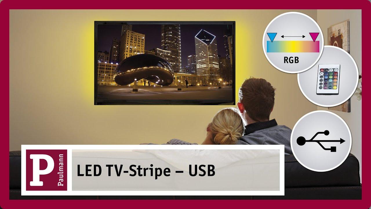 usb licht f r den fernseher usb light for tv youtube. Black Bedroom Furniture Sets. Home Design Ideas