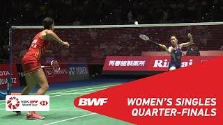 QF | WS | Carolina MARIN (ESP) [6] vs Ratchanok INTANON (THA) [4] | BWF 2018