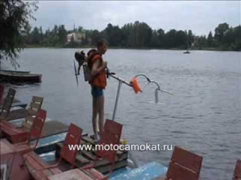Как сделать болотоход для лодки своими руками