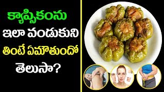 ఔషధాల గని కాప్సికం..! | Health Benefits Of Capsicum | Top 10 Healthy Eating Tips