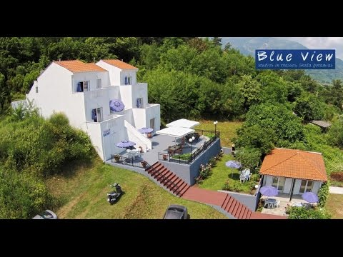 Blue View Studio In Thassos Skala Potamias Aerial Video