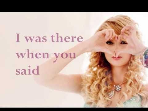 Forever & Always (piano version) - Taylor Swift   [lyrics on screen]