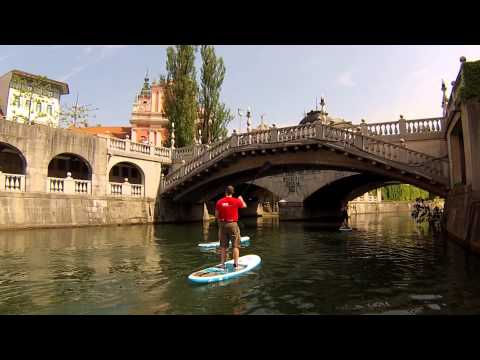 Stand up paddling tour on Ljubljanica river