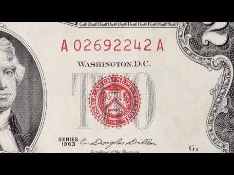 Why Some $2 Bills Have A Red Seal & Serial Number
