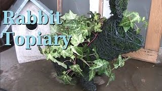Making a Rabbit Topiary (for Easter & Other Times)