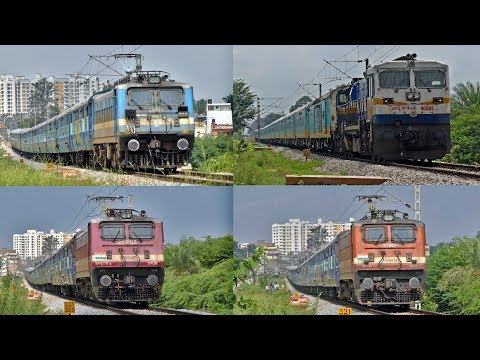 ALL in ONE !! WAP 4, WAG 7 and WDP 4D   Indian Railways