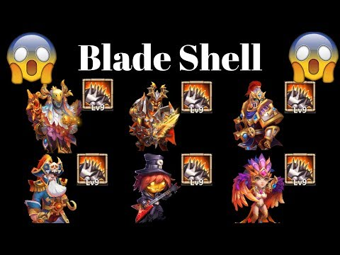 Full Blade Shell Team Vs Top Legends| Just Wow | Castle Clash